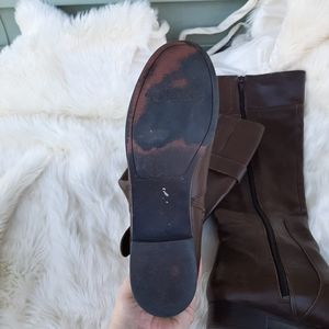 Nine west brown leather boots sz 7